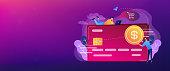Credit card header banner.