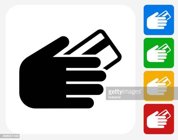 Credit Card Icon Flat Graphic Design