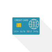 Credit card icon isolated on white background