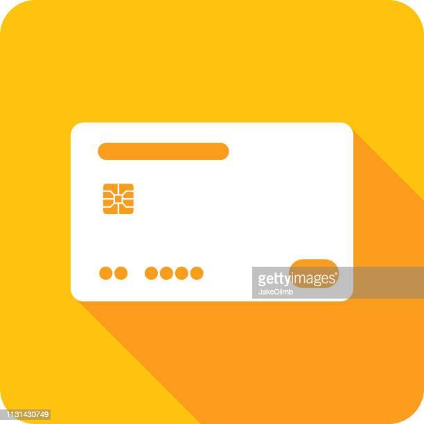 ilustrações, clipart, desenhos animados e ícones de silhueta 2 do ícone do cartão de crédito - chip de computador