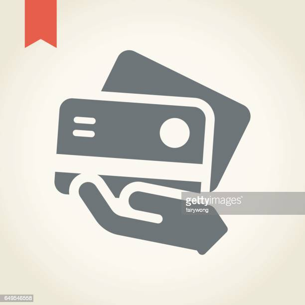 credit card icon - greeting card stock illustrations, clip art, cartoons, & icons