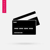 Credit card icon, vector