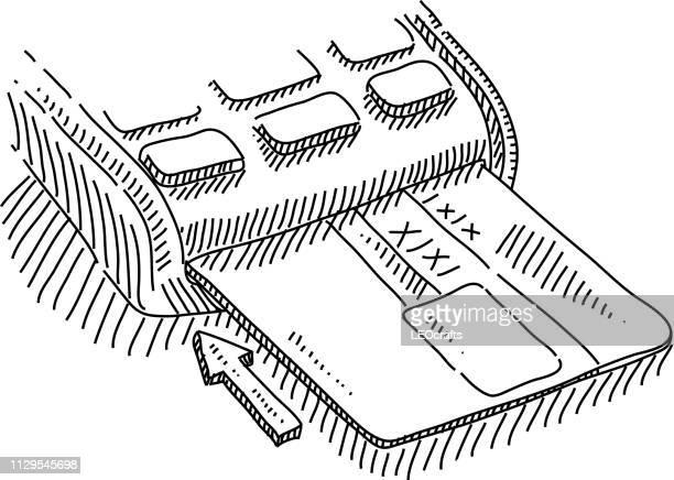 Dibujo de lector de tarjeta de crédito