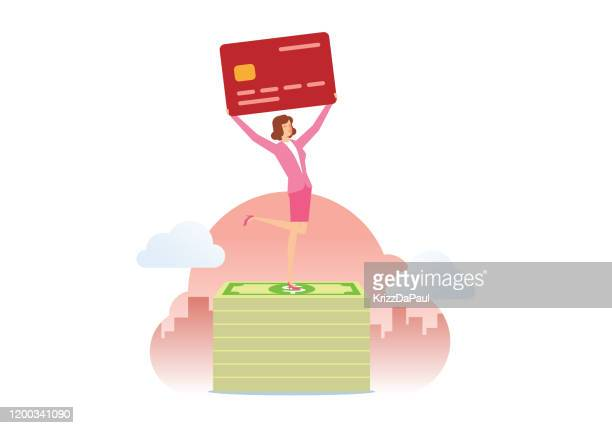 credit card - retail employee stock illustrations