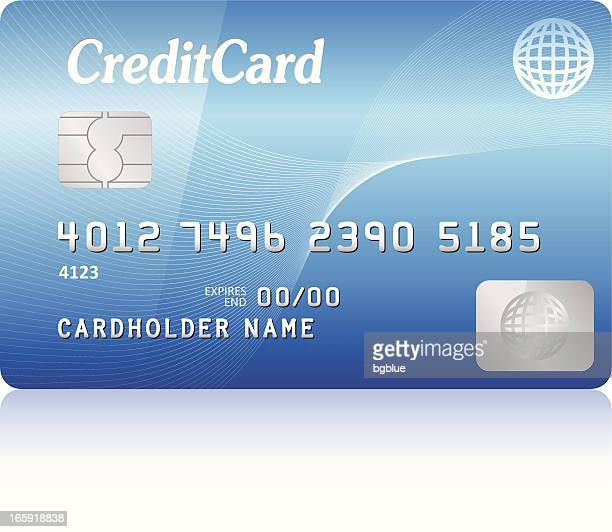 credit card - computer chip stock illustrations