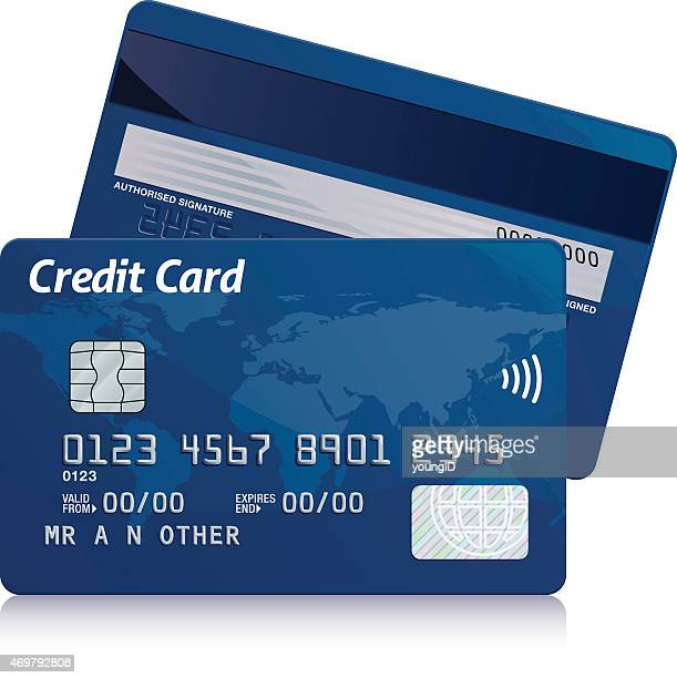 credit card - credit card stock illustrations