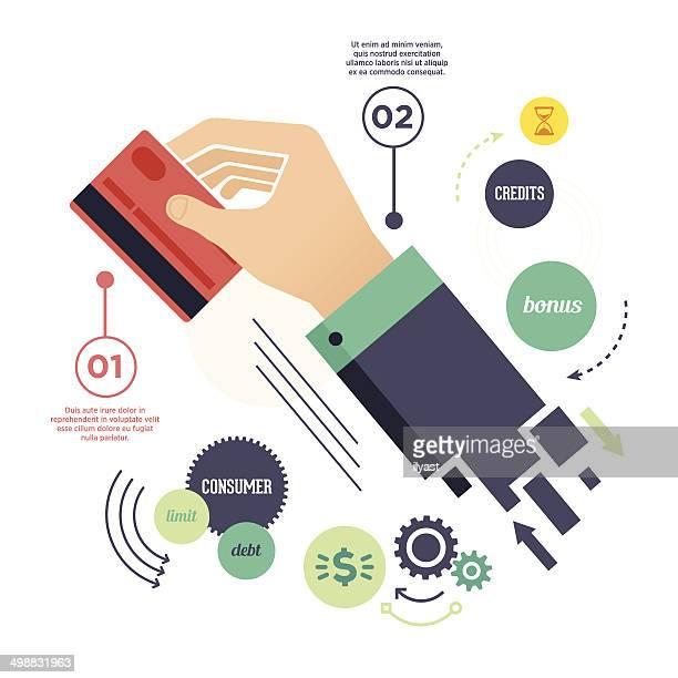 ilustrações, clipart, desenhos animados e ícones de cartão de crédito - cartão de crédito