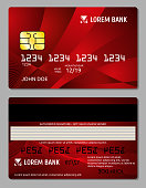 Credit cards two sides design vector illustration for your business