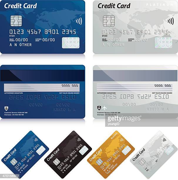 credit cards - white background stock illustrations