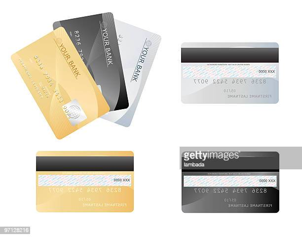 credit cards - back stock illustrations