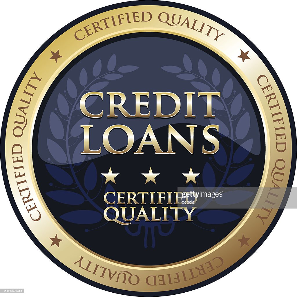 Credit Loans Gold Emblem : stock illustration