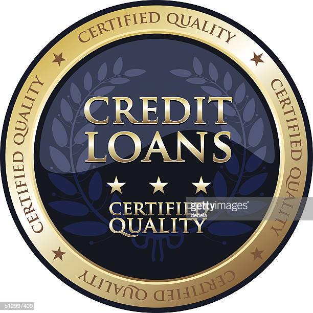 credit loans gold emblem - legal document stock illustrations, clip art, cartoons, & icons