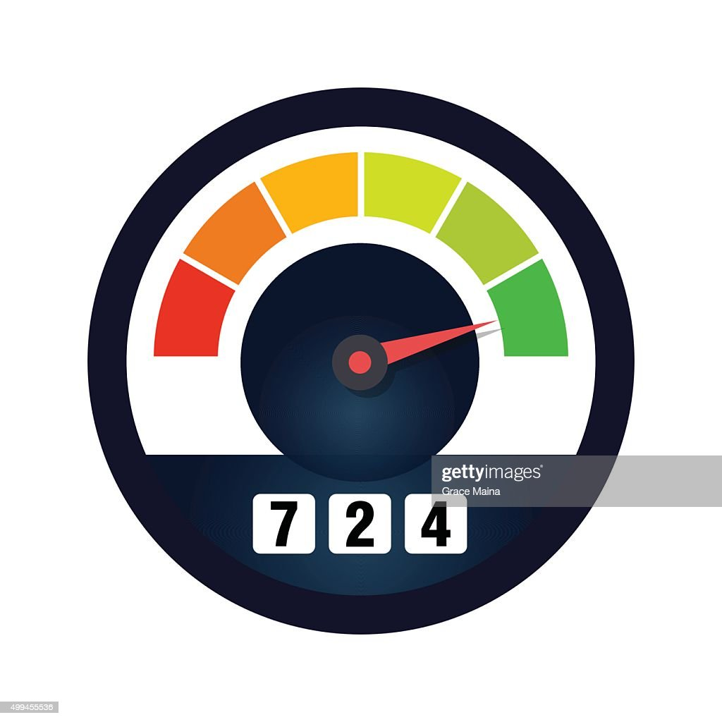 Credit Rating Scale - VECTOR : stock illustration