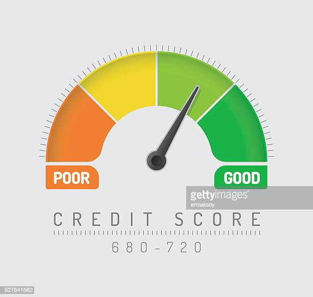 credit score gauge - frequency stock illustrations