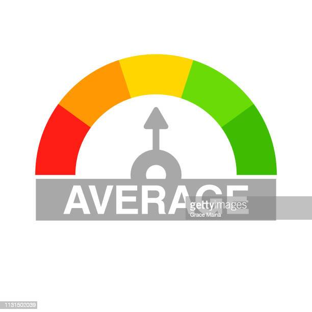 credit score rating scale reading average credit score - borrowing stock illustrations