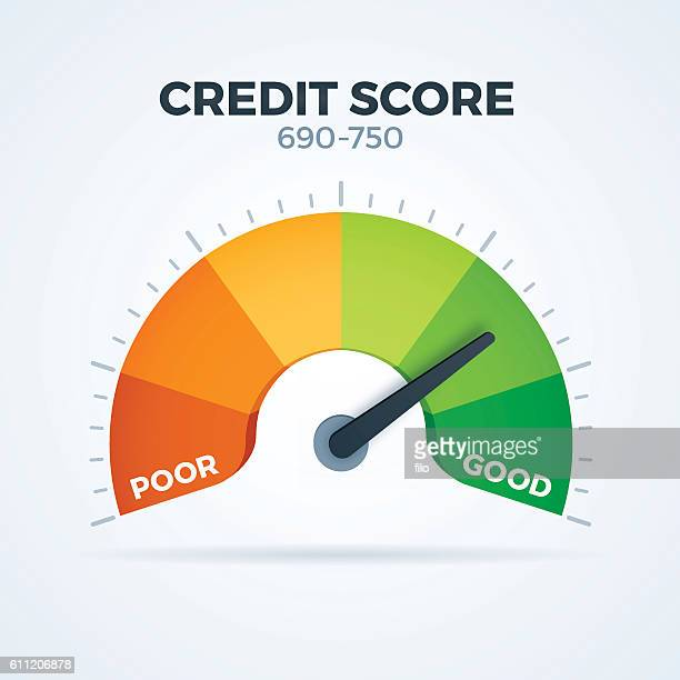 credit score - scoring stock illustrations