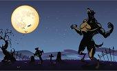 Creepy Werewolf Background