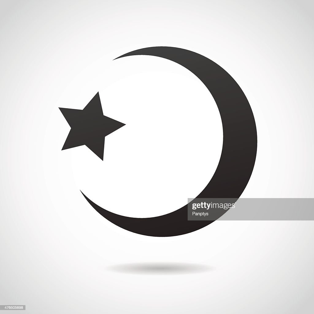 Crescent moon - islamic icon.