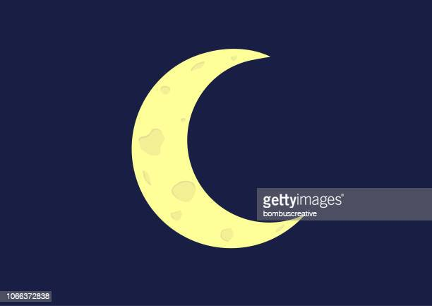 crescent moon - volcanic crater stock illustrations, clip art, cartoons, & icons