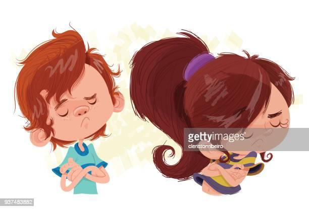 ilustraciones, imágenes clip art, dibujos animados e iconos de stock de brigadas de crianças - bullying escolar