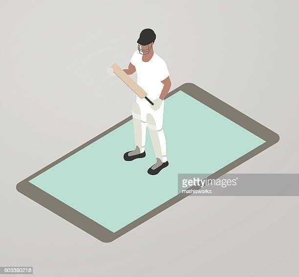 Cricket App Illustration