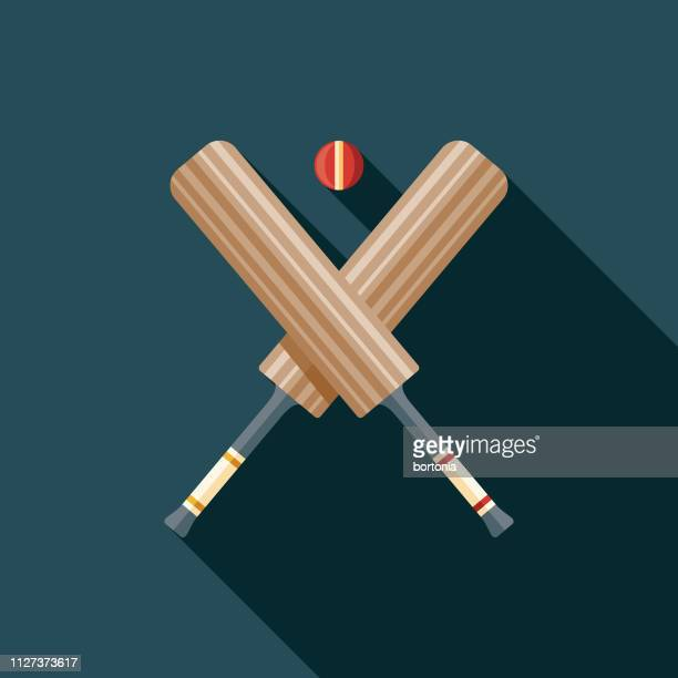 cricket australia icon - cricket bat stock illustrations