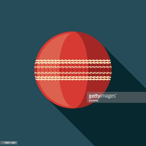 cricket ball icon - cricket ball stock illustrations