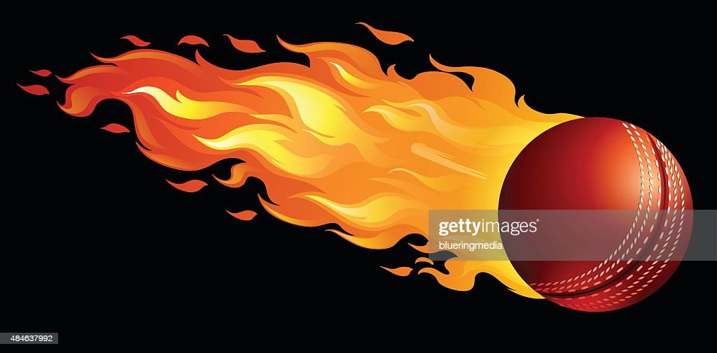 Cricket ball on fire