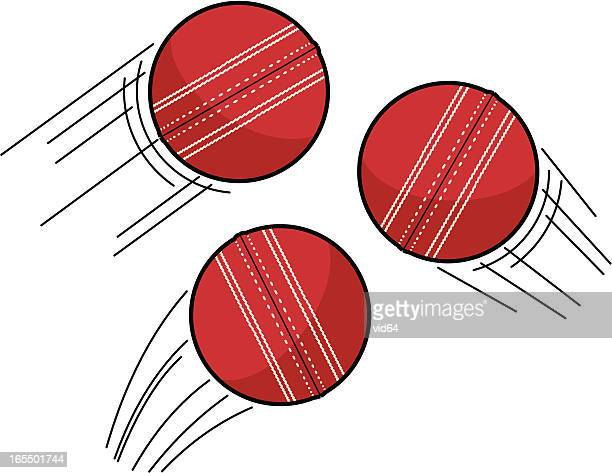 cricket ball swoosh - cricket ball stock illustrations