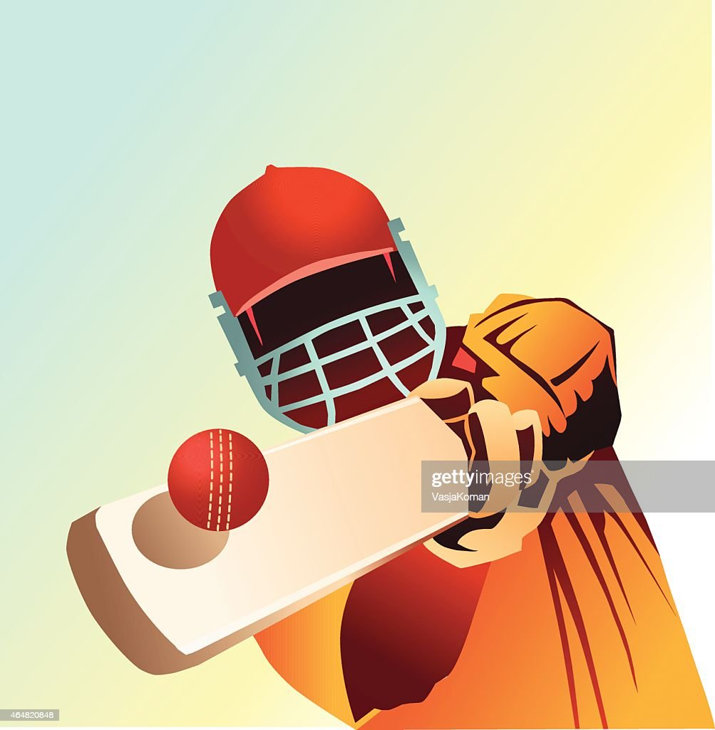 Cricket - Close up of Batsman Striking Ball
