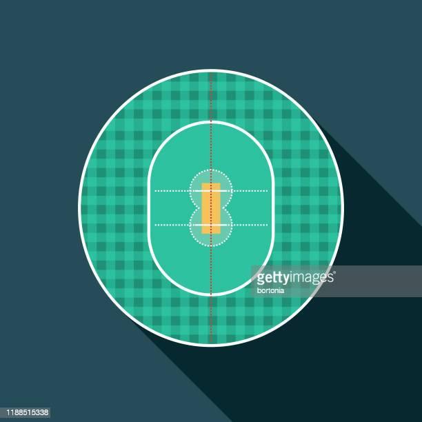 クリケットフィールドアイコン - クリケット競技場点のイラスト素材/クリップアート素材/マンガ素材/アイコン素材