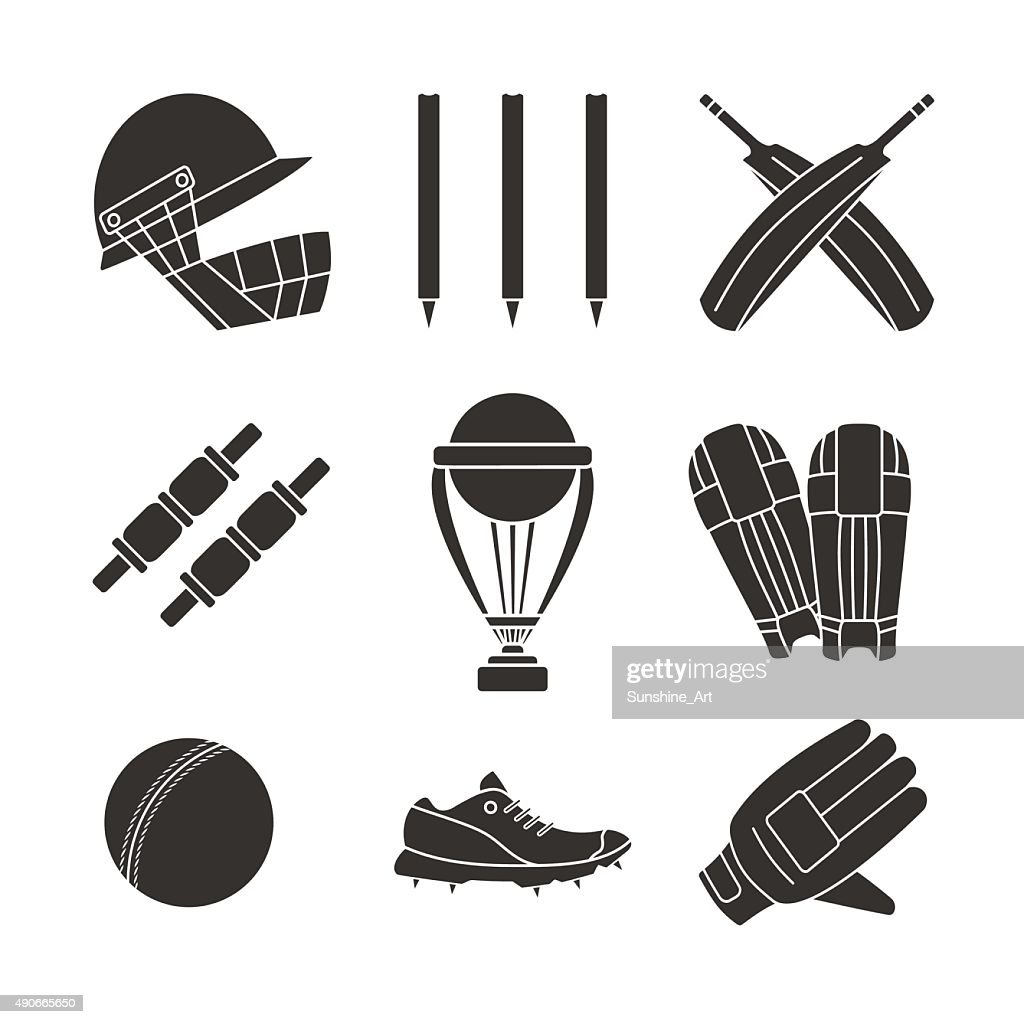 Cricket game vector concept.