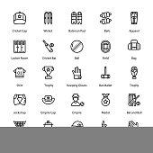 Cricket Glyph Icons