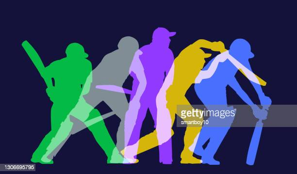cricket players - cricket player stock illustrations