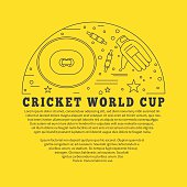 Cricket sport game graphic design concept
