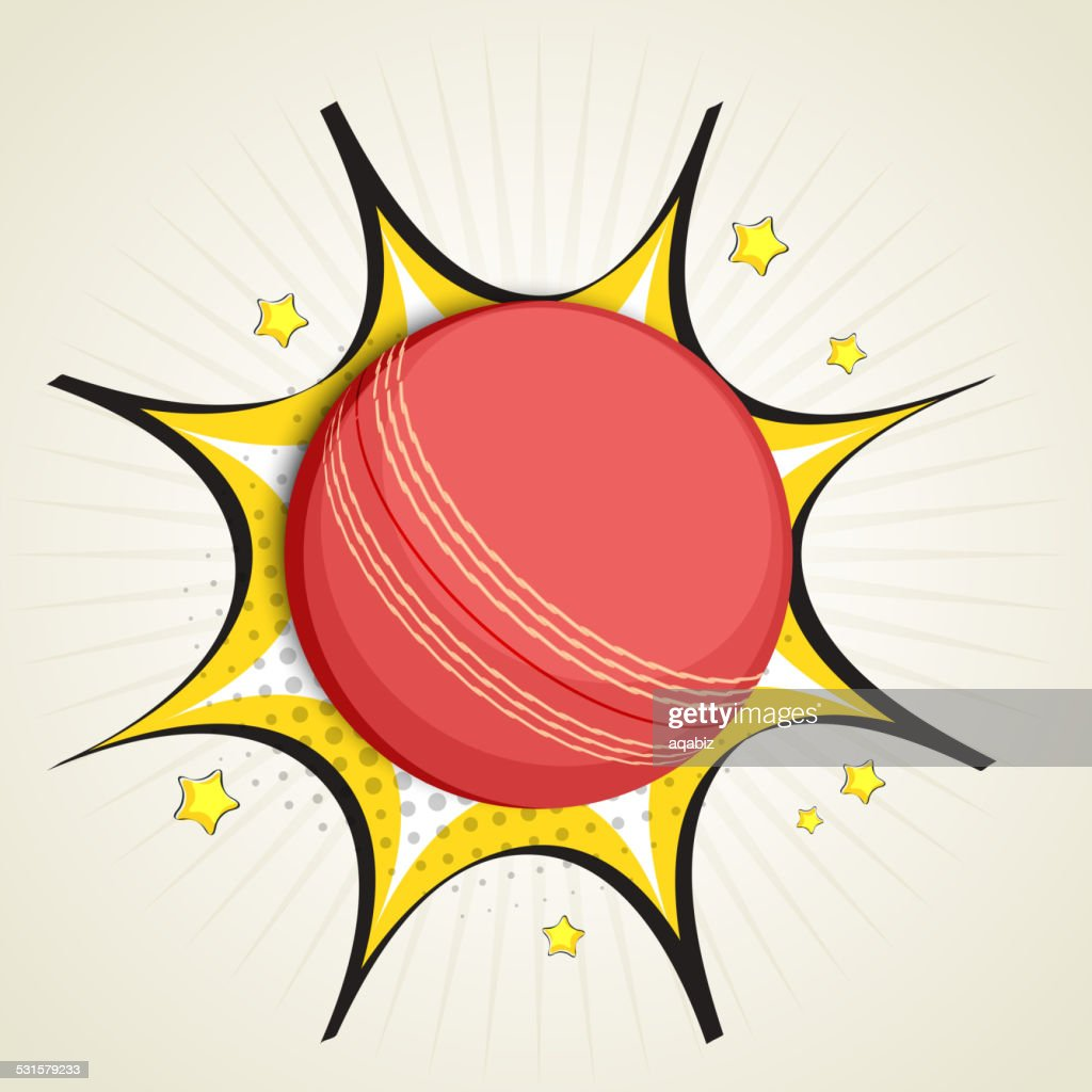 Cricket sports concept with ball.