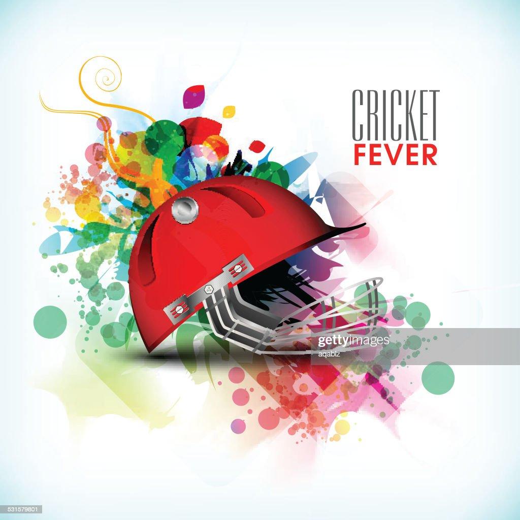 Cricket sports concept with batsman helmet.