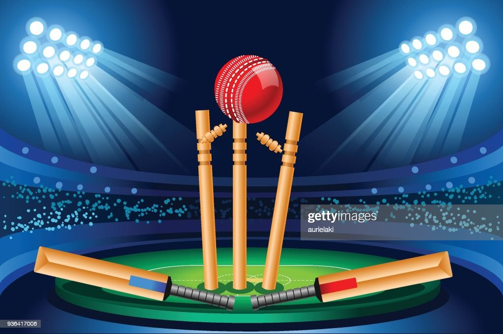 Cricket stadium vector wallpaper