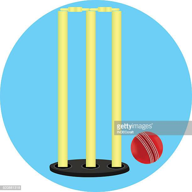 Cricket Stump And Ball