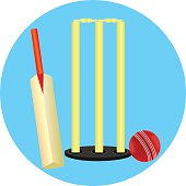 Cricket Stump Ball And Bat