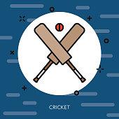 Cricket Thin Line United Kingdom Icon