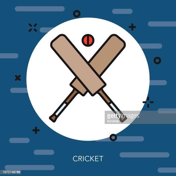 cricket thin line united kingdom icon - cricket bat stock illustrations