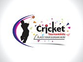 Cricket Tournament Text & Banner Design Template