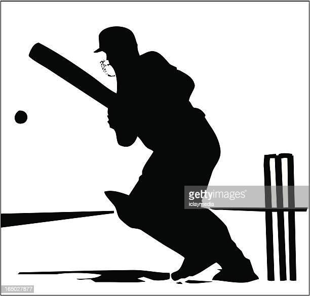 クリケット - バッツマン点のイラスト素材/クリップアート素材/マンガ素材/アイコン素材