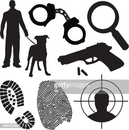 Crime And Law Enforcement Symbols Vector Art Getty Images
