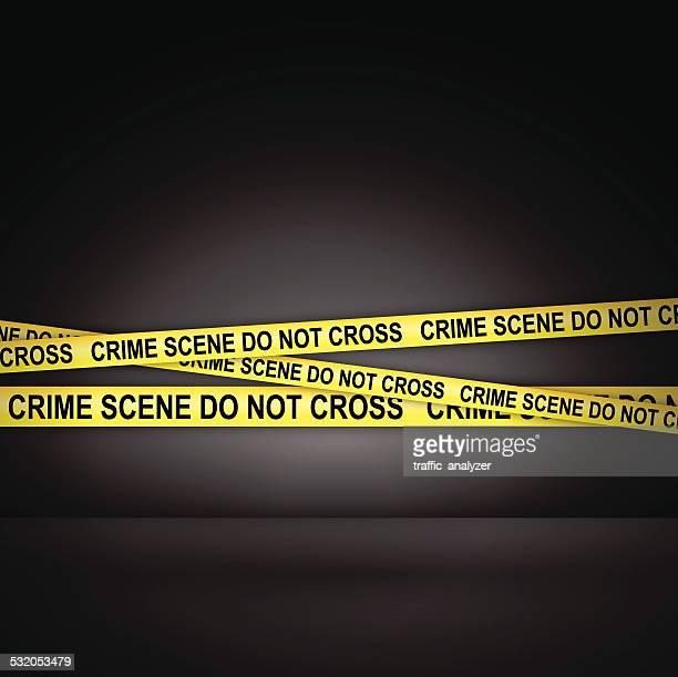 crime scene do not cross - crime scene stock illustrations, clip art, cartoons, & icons