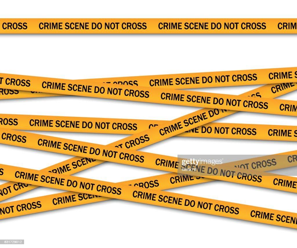 Crime scene do not cross yellow police tape