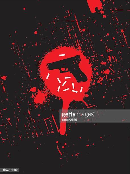 crime scene - bullet stock illustrations