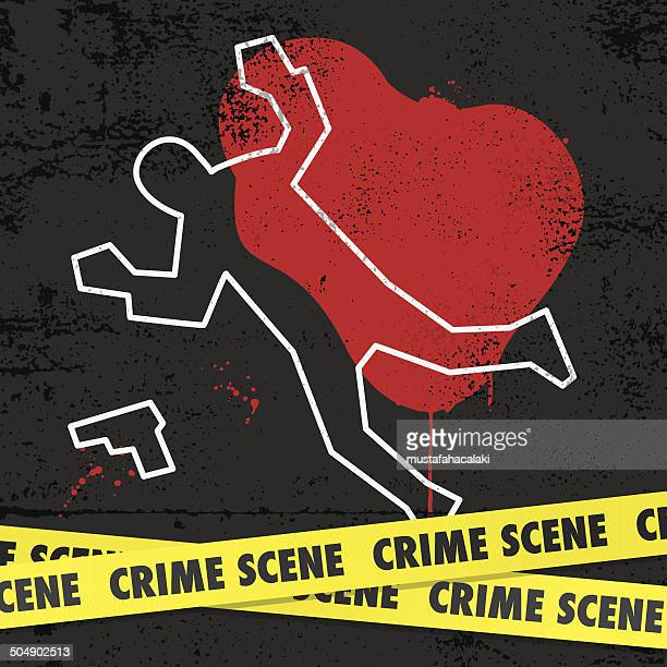 crime scene - dead body stock illustrations