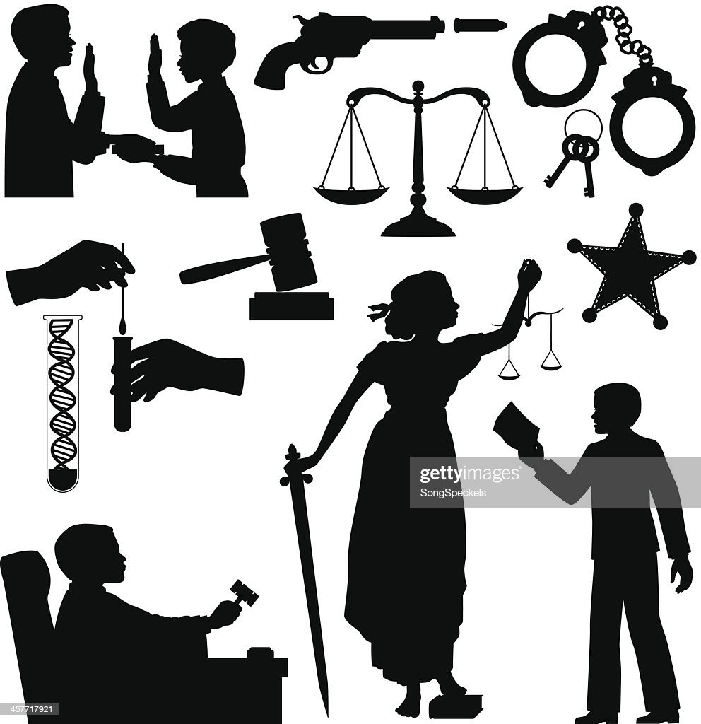 criminal justice silhouettes vector art getty images rh gettyimages com free clipart for criminal justice free clipart for criminal justice